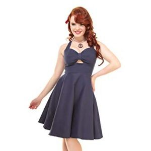 Collectif Colette Navy Pin Up Dress